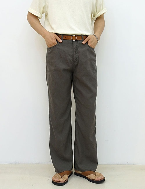Chevy linen cotton pants 2color